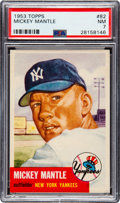 Baseball Cards:Singles (1950-1959), 1953 Topps Mickey Mantle #82 PSA NM 7. ...