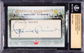 Golf Cards:General, 2013 Sportkings Premium Francis Ouimet Signed Cut Card Beckett #'d1 of 1. ...