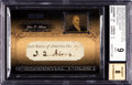 Autographs:Sports Cards, Signed 2007 Razor Poker John Quincy Adams BGS Mint 9, Beckett 8Autograph. ...