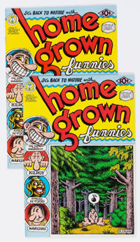 Home Grown Funnies #nn First and Second Printings Group of 2 (Kitchen Sink, 1971) Condition: Average VF-.... (Total: 2 C...