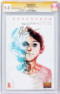 Modern Age (1980-Present):Science Fiction, Descender #1 Painted Visions Comics Edition - Signature Series (Image, 2015) CGC NM/MT 9.8 White pages....