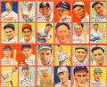 Baseball Cards:Singles (1930-1939), 1935 R321 Goudey 4-In-1 Uncut Panel With Babe Ruth Plus Ten OtherHoFers! ...