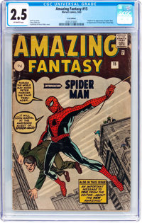 Amazing Fantasy #15 UK Edition (Marvel, 1962) CGC GD+ 2.5 Off-white pages