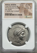 Ancients:Greek, AEOLIS. Myrina. Ca. 155-145 BC. AR tetradrachm (33mm, 16....