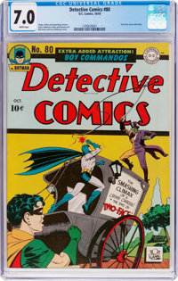 Detective Comics #80 (DC, 1943) CGC FN/VF 7.0 White pages