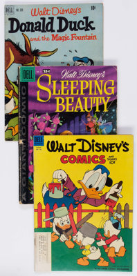 Disney Related Titles Group of 15 (Dell/Gold Key, 1950s-70s) Condition: Average VG.... (Total: 15 Comic Books)