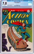 Golden Age (1938-1955):Superhero, Action Comics #84 (DC, 1945) CGC FN/VF 7.0 White pages....