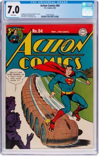 Action Comics #84 (DC, 1945) CGC FN/VF 7.0 White pages