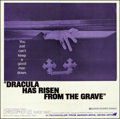 """Movie Posters:Horror, Dracula Has Risen from the Grave (Warner Brothers, 1969). Folded, Fine/Very Fine. Six Sheet (78.5"""" X 80""""). Horror.. ..."""