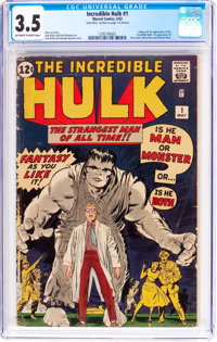 The Incredible Hulk #1 (Marvel, 1962) CGC VG- 3.5 Off-white to white pages