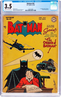 Batman #47 (DC, 1948) CGC VG- 3.5 Cream to off-white pages