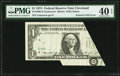 Error Notes:Foldovers, Fr. 1908-D $1 1974 Federal Reserve Note. PMG Extremely Fine 40EPQ.. ...