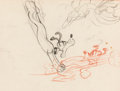 Animation Art:Production Drawing, Pluto Animation Drawing (Walt Disney, c. 1930s)....