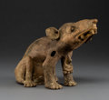 Pre-Columbian:Ceramics, A Zapotec Dog. c. 400 - 700 AD...