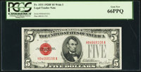 Fr. 1531 $5 1928F Wide I Legal Tender Note. PCGS Gem New 66PPQ