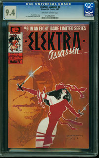 Elektra Assassin #6 (Marvel/Epic Comics, 1987) CGC NM 9.4 OFF-WHITE TO WHITE pages