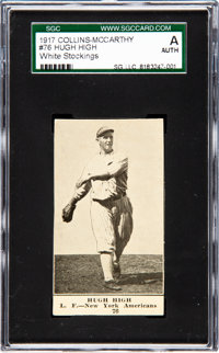1917 E135 Collins-McCarthy Hugh High (Claude Williams) #76 SGC Authentic - The Only Example on the SGC & PSA Cen...