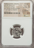 Ancients:Greek, Ancients: PAPHLAGONIA. Sinope. Ca. 330-300 BC. AR drachm (18mm,5.96 gm, 5h).NGC Choice AU 4/5 - 3/5, brushed.