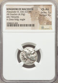 Ancients:Greek, Ancients: MACEDONIAN KINGDOM. Alexander III the Great (336-323 BC).AR drachm (17mm, 4.29 gm, 4h). NGC Choice AU 5/5 -...
