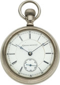 Timepieces:Pocket (pre 1900) , Aurora Watch Co. Highest Grade Fifth Pinion, Marked 15 Rub...