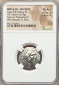 Ancients:Greek, Ancients: IONIAN ISLANDS. Chios. Ca. early 3rd century BC. ARdrachm (21mm, 4.23 gm, 12h). NGC Choice AU4/5 - 4/5.