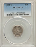 Seated Dimes: , 1852-O 10C Fine 15 PCGS. PCGS Population: (5/86). NGC Census: (1/52). Mintage 430,000. ...