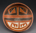 American Indian Art:Pottery, A Four-Mile Polychrome Bowl. c. 1200 - 1450 AD...