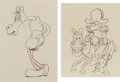 Animation Art:Production Drawing, Cartoon Napoleon and Horse Animation Drawings Group of 2 (Columbia,c. 1930s-40s).... (Total: 2 Items)