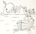 Original Comic Art:Illustrations, Peter Pan Records Artist Popeye: A Whale of a Tale Book #57Coloring Book and Record Original Art Group of 8 (Pete... (Total: 8Original Art)