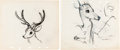 Animation Art:Limited Edition Cel, Bambi Concept Drawings Group of 16 (Walt Disney, 1942)....(Total: 16 Original Art)