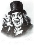 Memorabilia:Comic-Related, Basil Gogos London After Midnight Signed Limited Edition Print #175/1000 (Basil Gogos, 1994)....
