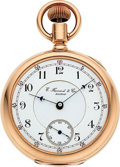 Timepieces:Pocket (pre 1900) , E. Howard & Co. Boston 14k Gold N Size Split Plate. ...