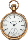 Timepieces:Pocket (post 1900), J.P. Stevens, Aurora, 18 Size Open Face. ...