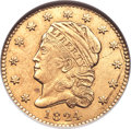 Early Quarter Eagles, 1824/1 $2 1/2 BD-1, R.5 -- Scratched, Cleaned -- ANACS. AU Details,Net XF40....