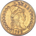 Early Eagles, 1795 $10 13 Leaves, BD-1, High R.3 -- Plugged -- NCS. AUDetails....