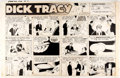 Original Comic Art:Comic Strip Art, Chester Gould Dick Tracy Sunday Comic Strip Original dated 8-2-53 (The Chicago Tribune, 1953)....