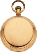 Timepieces:Pocket (pre 1900) , Waltham 18k Gold Amn. Grade Model 72. ...