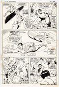 Original Comic Art:Panel Pages, Sal Buscema and Jim Mooney Sub-Mariner #34 Story Page 15Silver Surfer and Hulk Original Art (Marvel, 1971)....