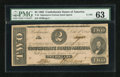 Confederate Notes:1862 Issues, T54 $2 1862 Cr 391.. ...