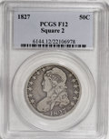 Bust Half Dollars: , 1827 50C Square Base 2 F12 PCGS. PCGS Population (6/1123). NGCCensus: (5/1438). Mintage: 5,493,400. Numismedia Wsl. Price ...