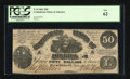 Confederate Notes:1861 Issues, T14 $50 1861. PF-7. ...