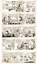 Original Comic Art:Comic Strip Art, Edmond Good Homer Towne Daily Comic Strip Pilot Original ArtGroup of 7 (c. 1940s).... (Total: 7 Original Art)