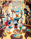 Memorabilia:Disney, Carl Barks In Uncle Walt's Collectery Signed Limited Edition Lithograph Print #37/345 (Another Rainbow, 1984)....