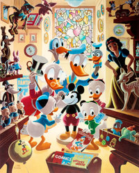 Carl Barks In Uncle Walt's Collectery Signed Limited Edition Lithograph Print #37/345 (Another Rainbow, 1984)
