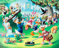 Carl Barks Holiday in Duckburg Signed Limited Edition Lithograph Print #225/345 (Another Rainbow, 1989)