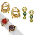 Estate Jewelry:Lots, Multi-Stone, Gold Jewelry. ... (Total: 4 Items)