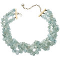 Estate Jewelry:Necklaces, Aquamarine, Cultured Pearl, Gold Necklace. ...