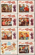 """Movie Posters:Western, Under California Stars (Republic, 1948). Lobby Card Set of 8 (11"""" X 14""""). Western.. ... (Total: 8 Items)"""