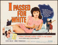 """Movie Posters:Exploitation, I Passed for White (Allied Artists, 1960). Half Sheet (22"""" X 28"""")Style B, & Lobby Card Set of 8 (11"""" X 14""""). Exploitation....(Total: 9 Items)"""