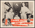 "Movie Posters:War, Flying Leathernecks (RKO, R-1956). Lobby Card (11"" X 14"") &Italian Locandinas (3) (13"" X 27.5""). War.. ... (Total: 4 Items)"